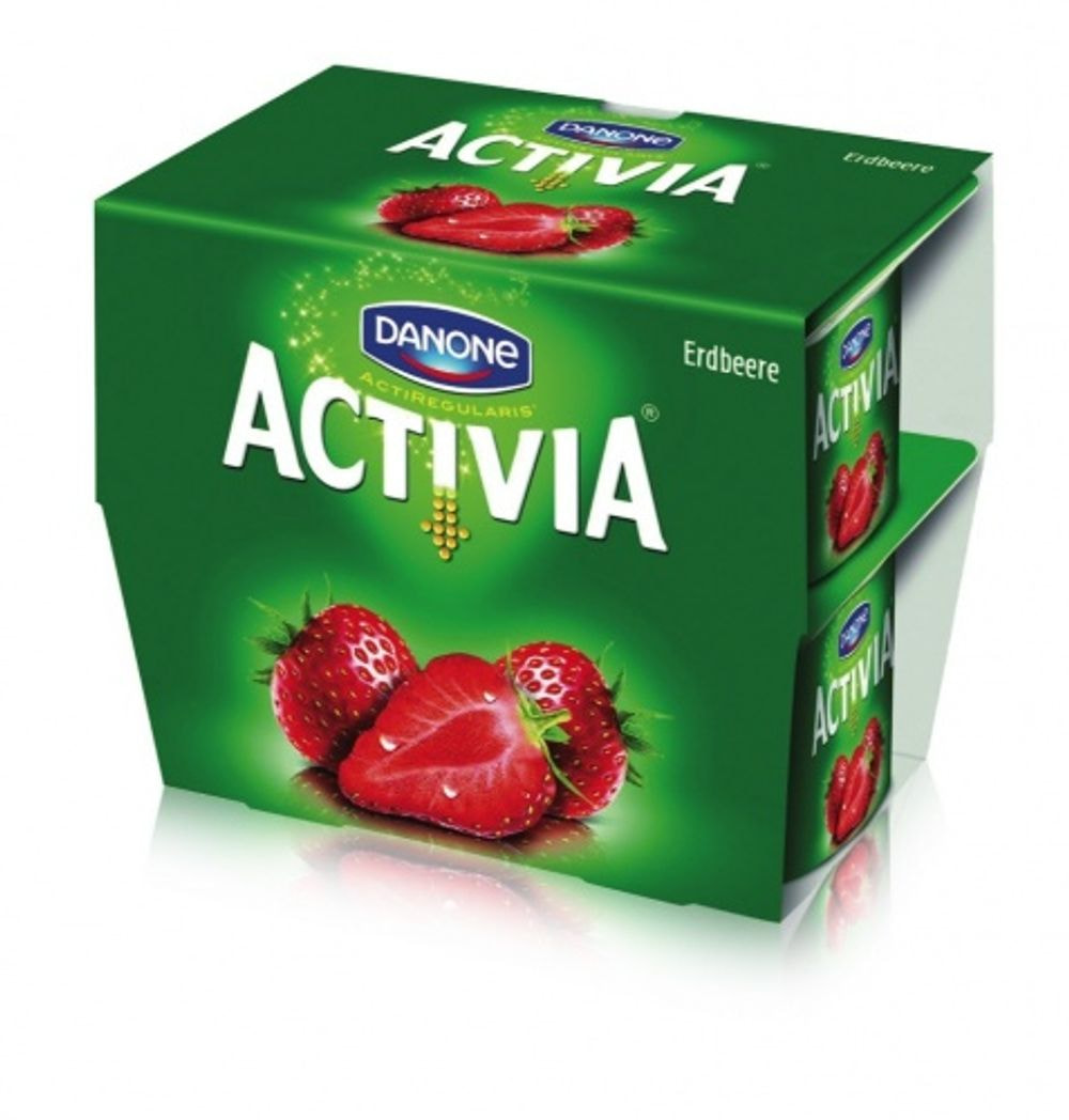 Probiotic yogurt strawberry, Activia, 4x120g