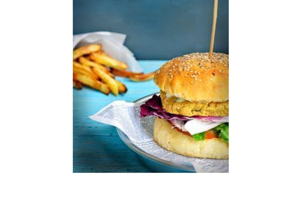 Hamburger vegano o vegetariano con contorno a scelta