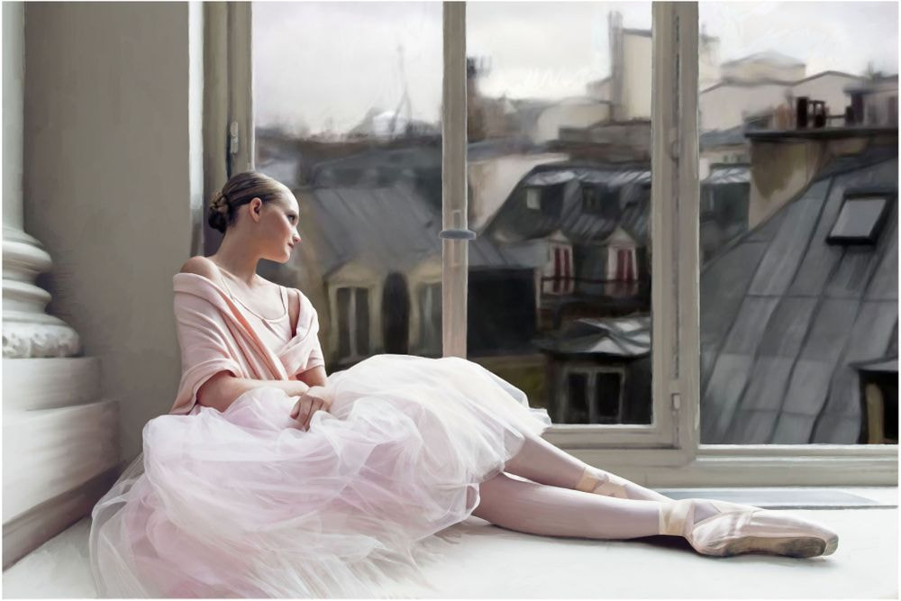 La danseuse et les toit de Paris