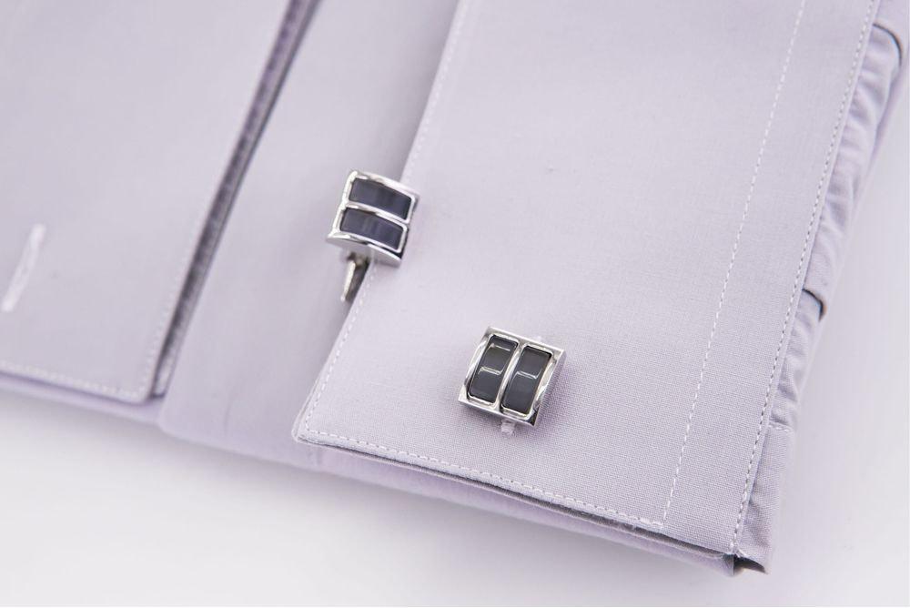 gemelli a righe acciaio