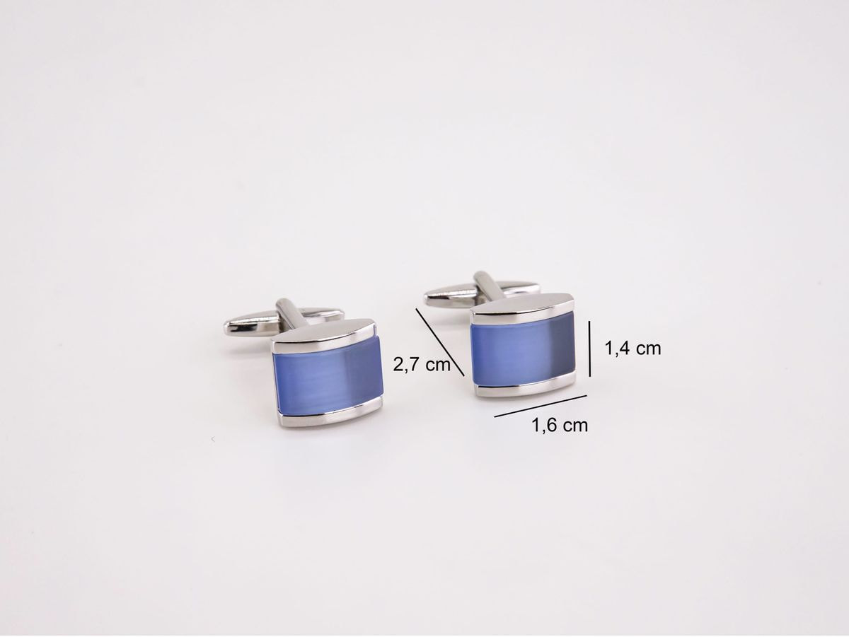 gemelli blu e acciaio