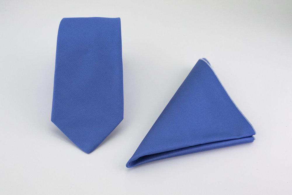 Light blue tie and pocket-handkerchief