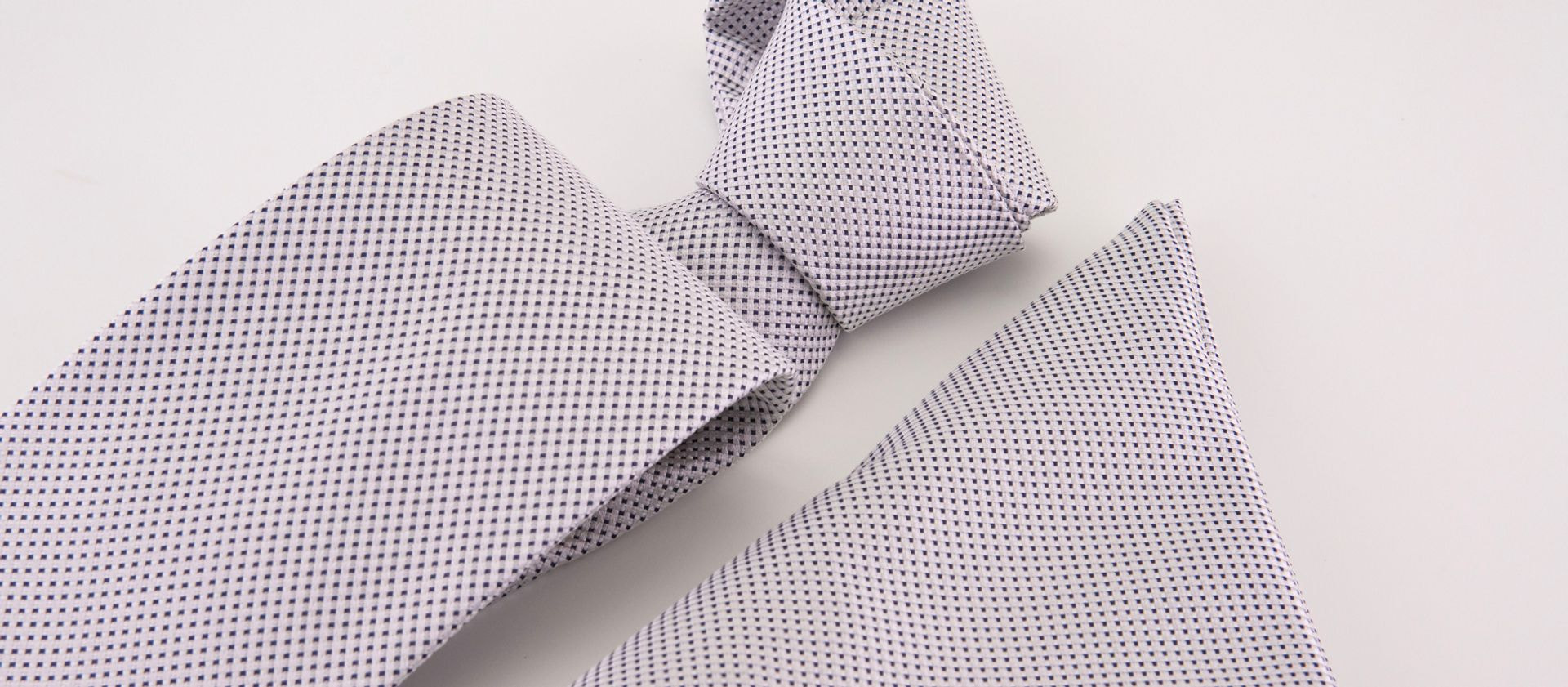 Black dot tie and pocket-handkerchief