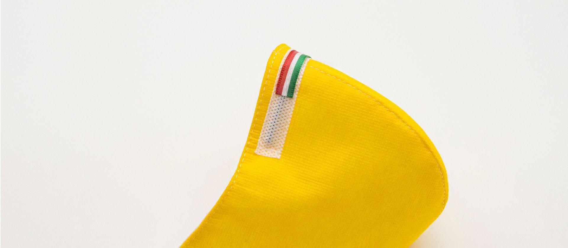Mascherina Protettiva Fashion Lavabile gialla M E