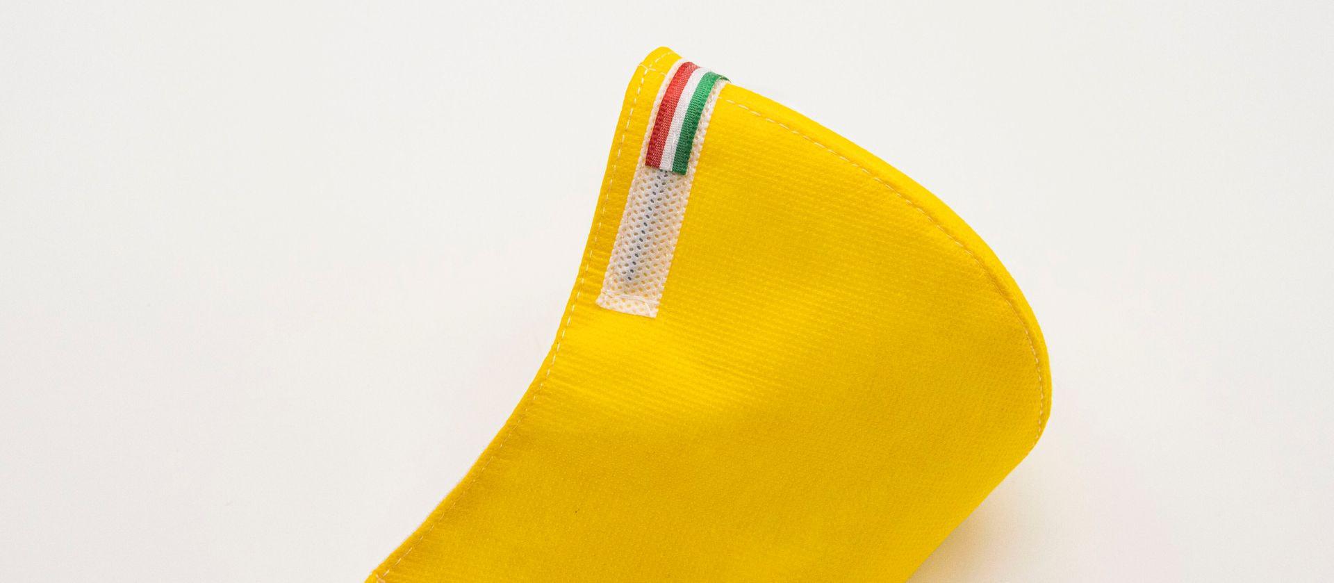 Mascherina Protettiva Fashion Lavabile gialla L