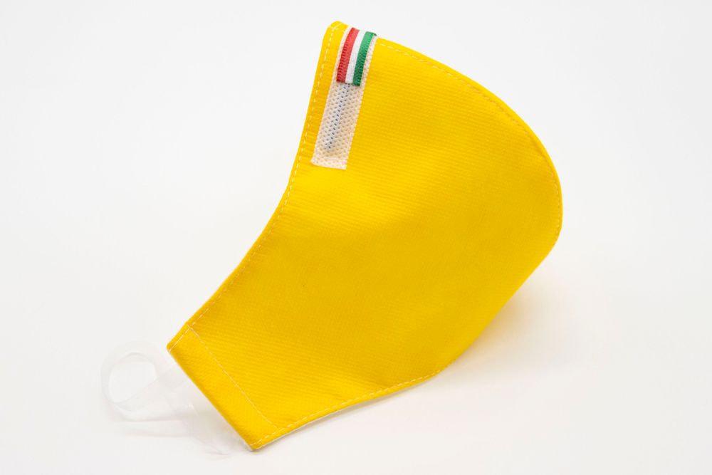 Mascherina Protettiva Fashion Lavabile gialla XXL