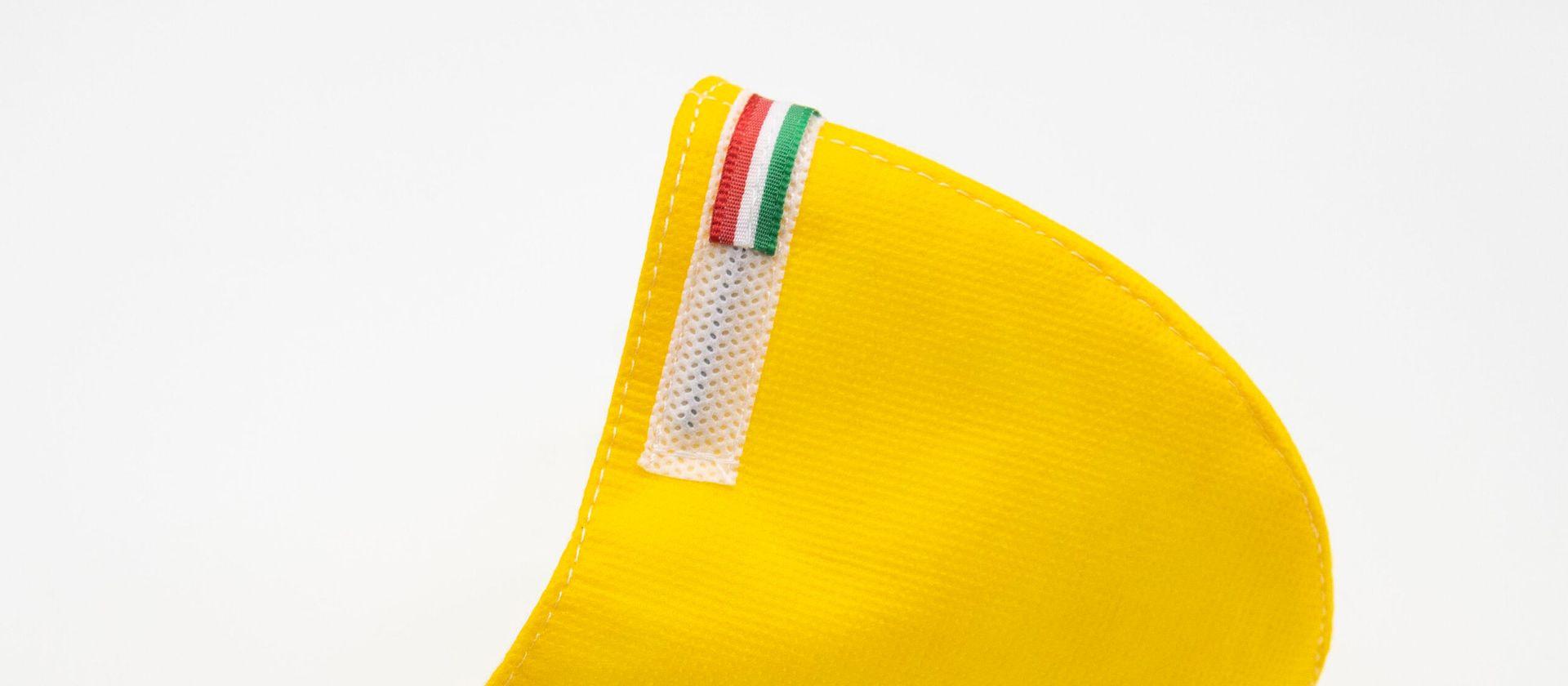 Mascherina Protettiva Fashion Lavabile gialla S E