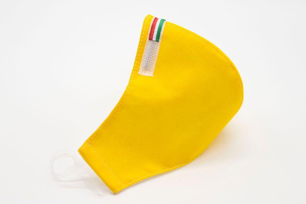 Mascherina Protettiva Fashion Lavabile gialla XL