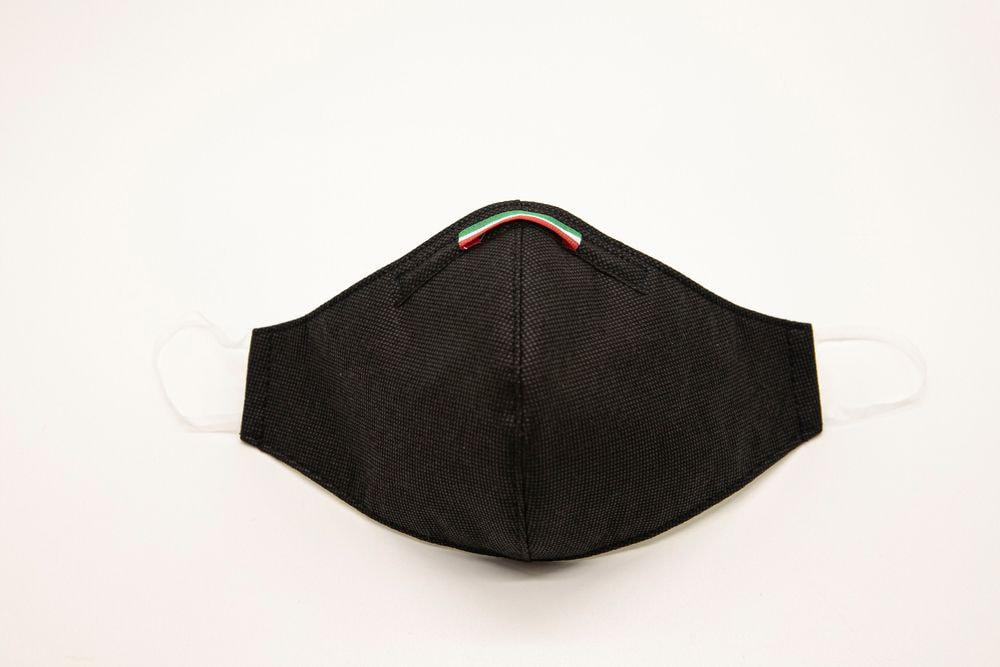 Mascherina Protettiva Fashion Lavabile Nera XL