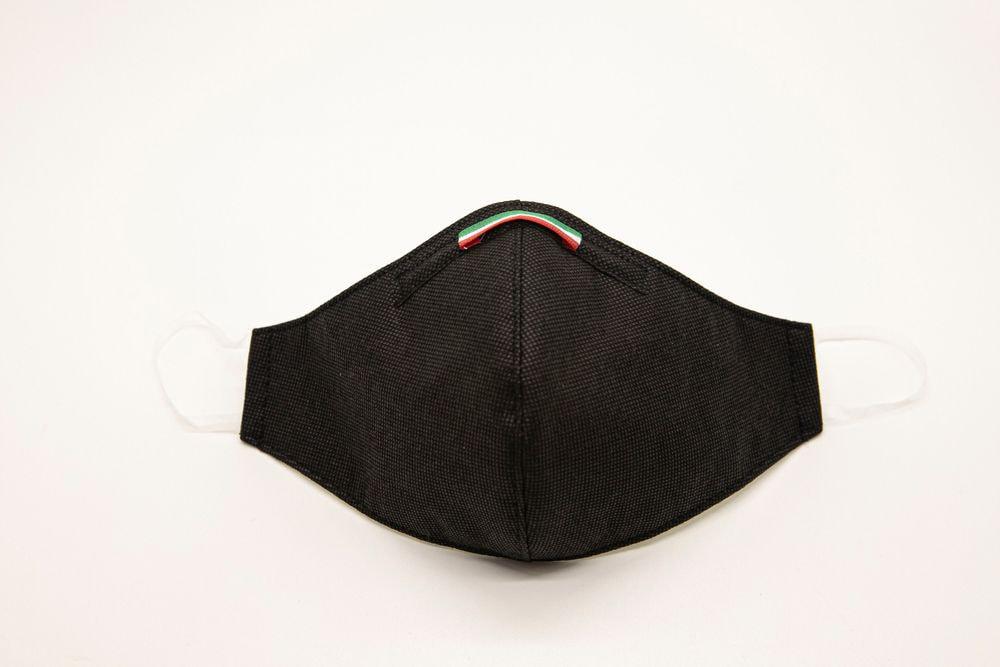 Mascherina Protettiva Fashion Lavabile Nera L E