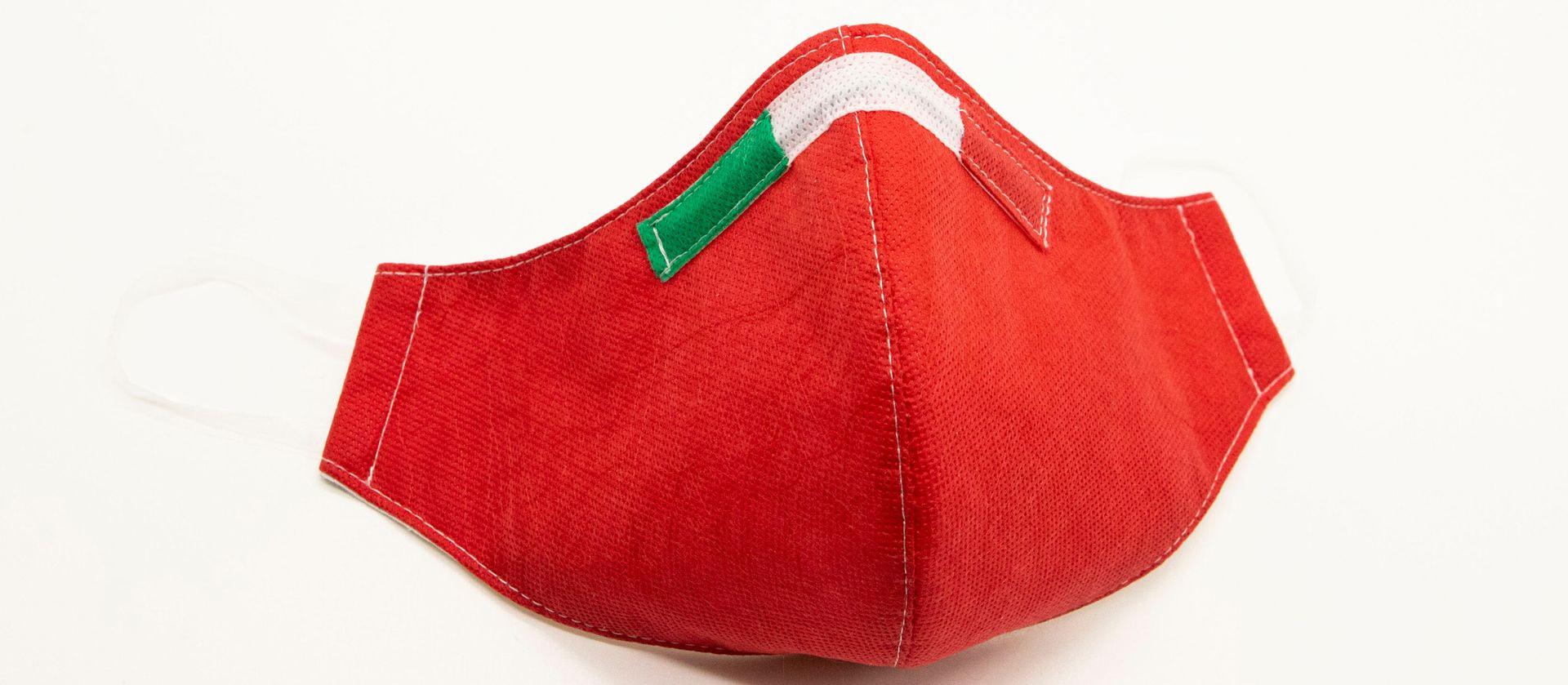 Mascherina Protettiva Fashion Lavabile rossa M