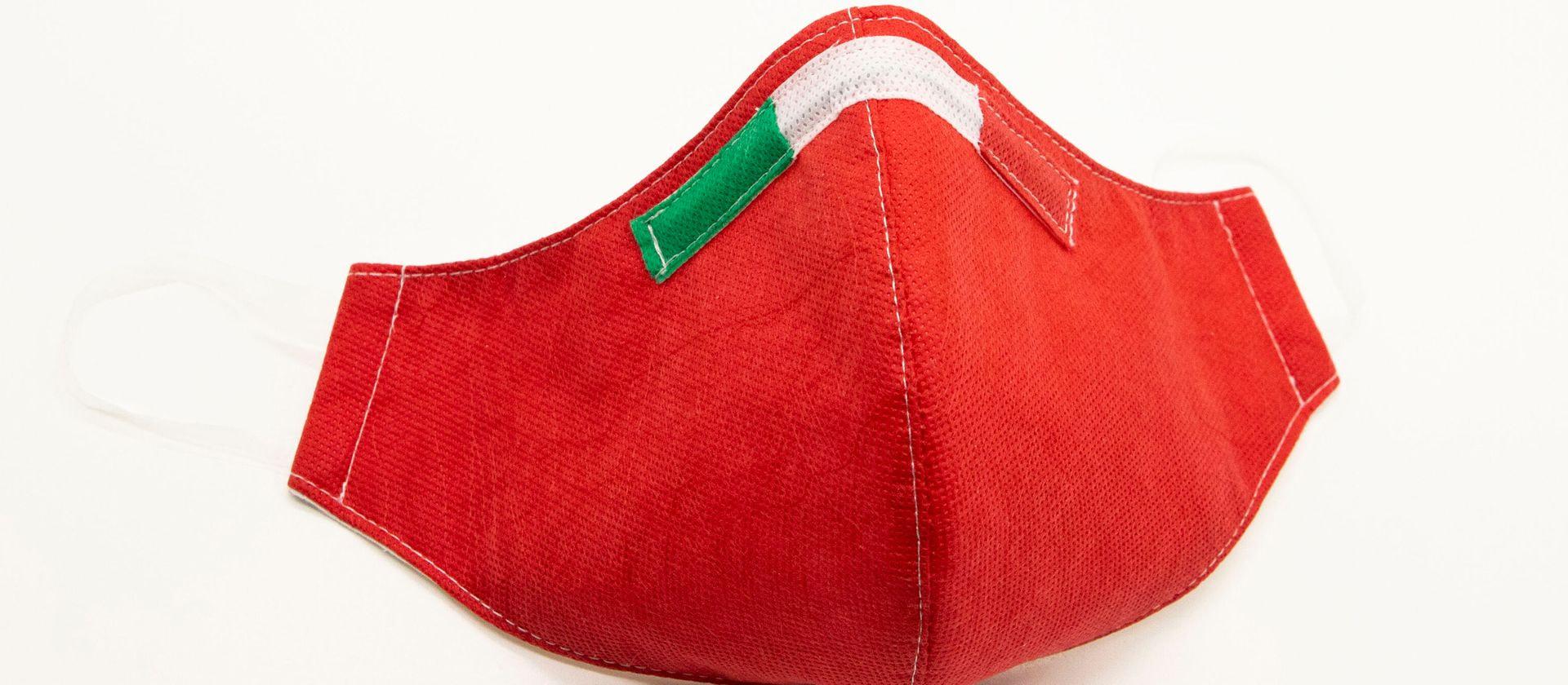 Mascherina Protettiva Fashion Lavabile rossa L