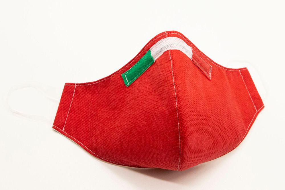 Mascherina Protettiva Fashion Lavabile rossa S E