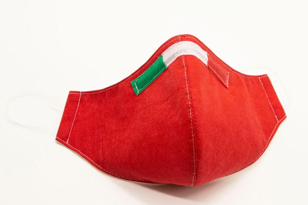 Mascherina Protettiva Fashion Lavabile rossa M E