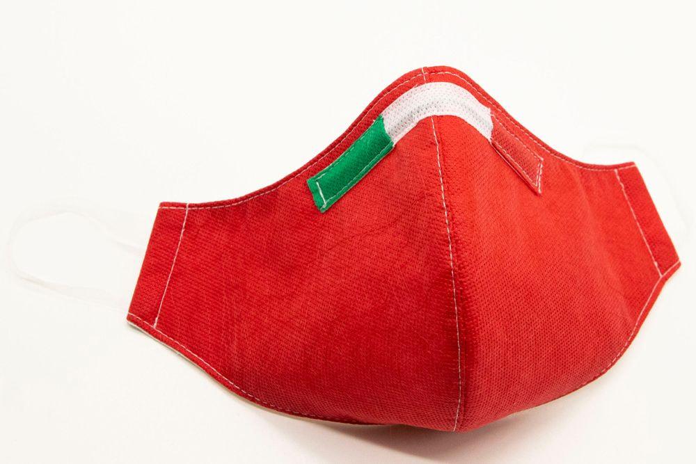 Mascherina Protettiva Fashion Lavabile rossa S
