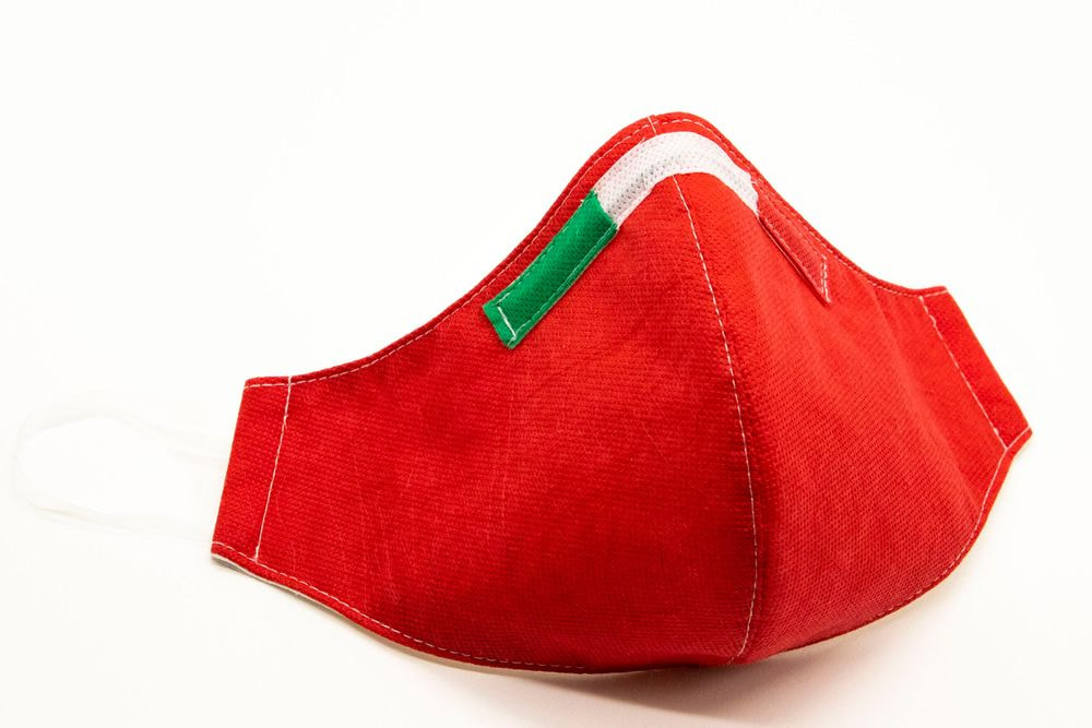 Mascherina Protettiva Fashion Lavabile rossa L E