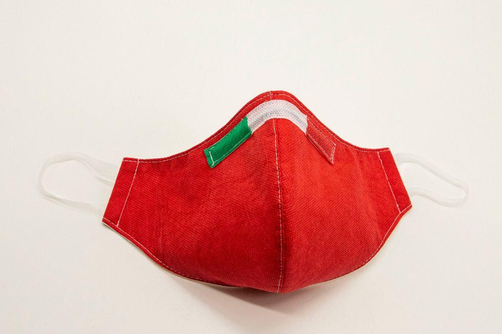 Mascherina Protettiva Fashion Lavabile rossa XXL
