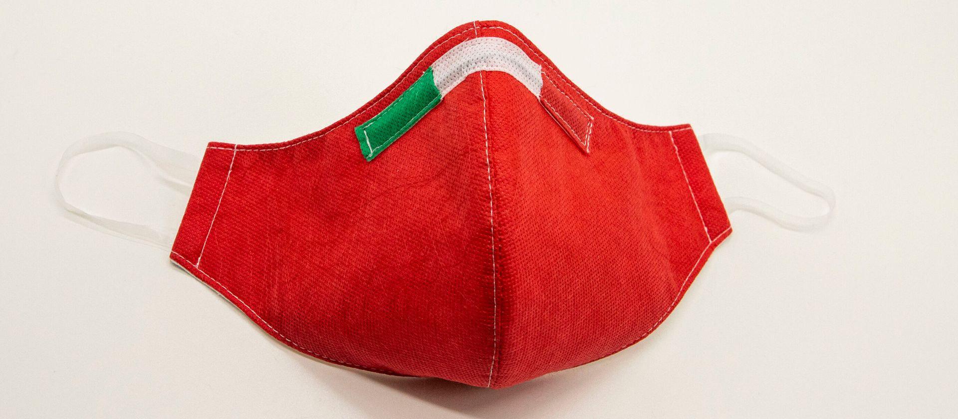 Mascherina Protettiva Fashion Lavabile rossa XS E