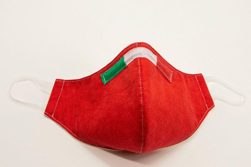Mascherina Protettiva Fashion Lavabile rossa XL