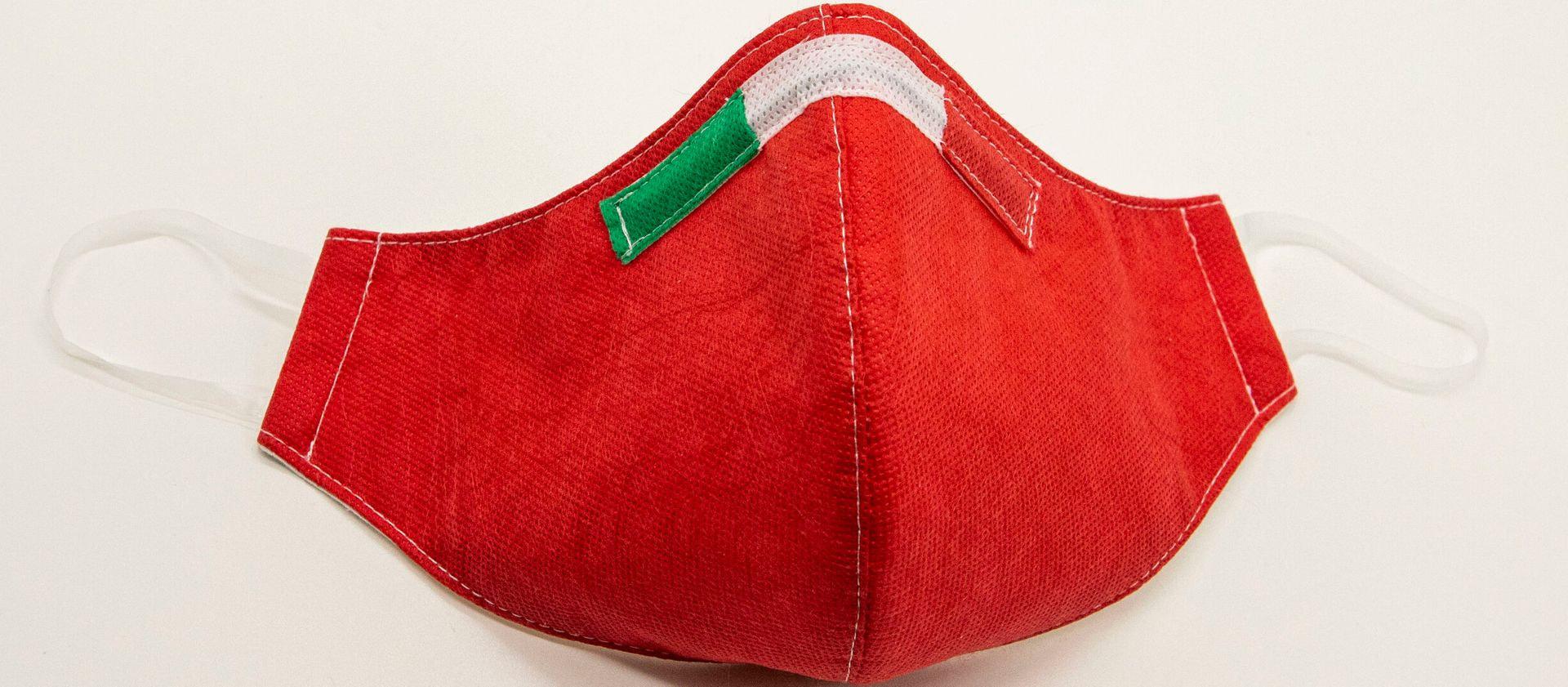 Mascherina Protettiva Fashion Lavabile rossa XL E