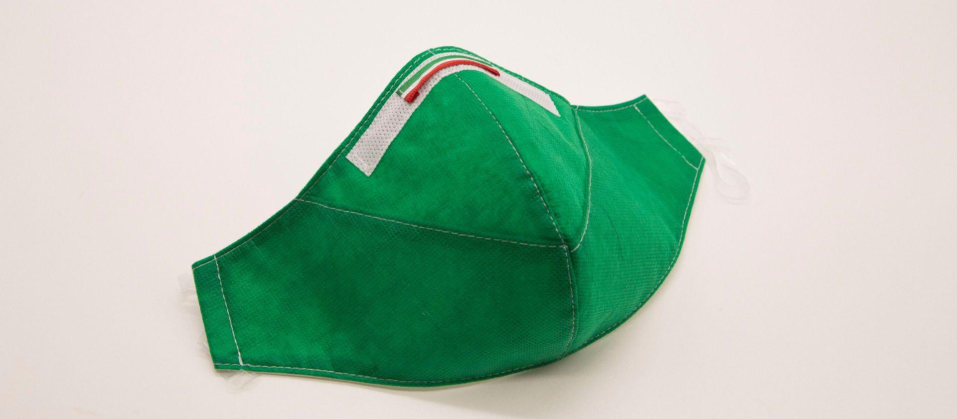 Mascherina Protettiva Fashion Lavabile Verde S