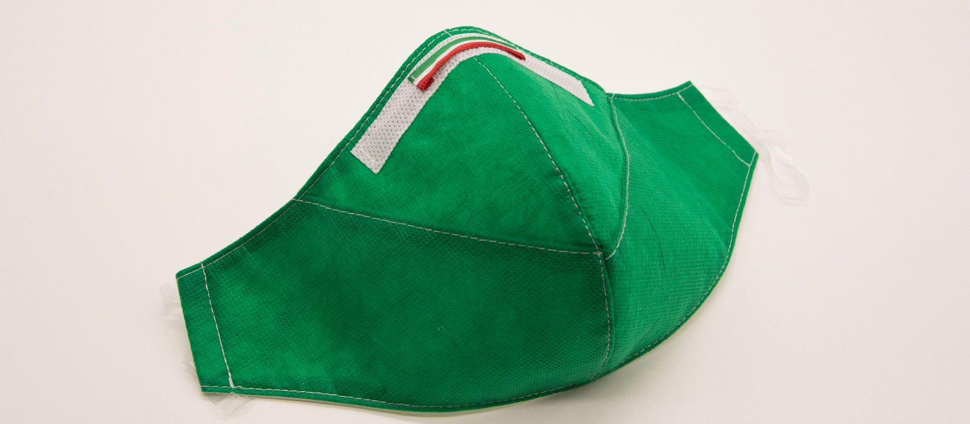 Mascherina Protettiva Fashion Lavabile Verde XXL E