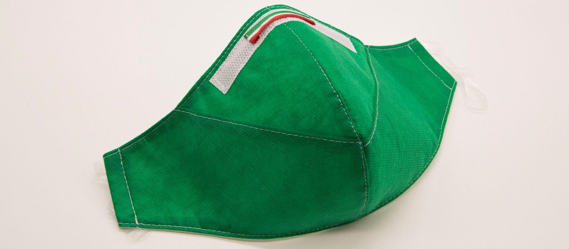 Mascherina Protettiva Fashion Lavabile Verde M E