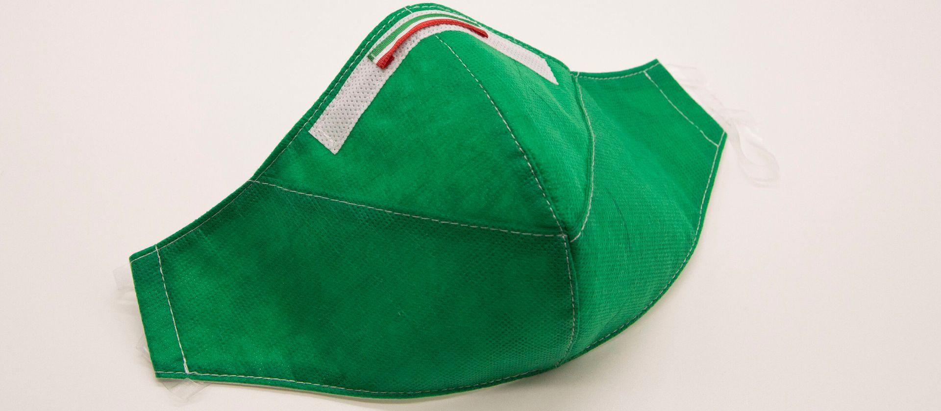 Mascherina Protettiva Fashion Lavabile Verde XL