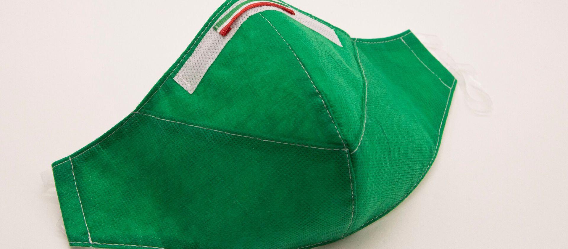 Mascherina Protettiva Fashion Lavabile Verde XL E