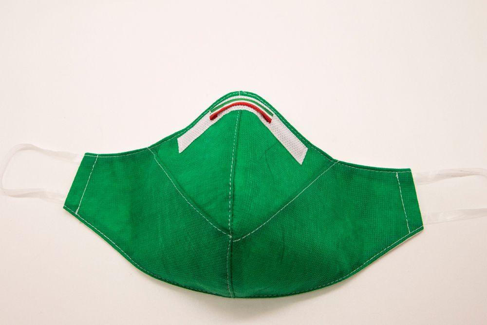Mascherina Protettiva Fashion Lavabile Verde L E