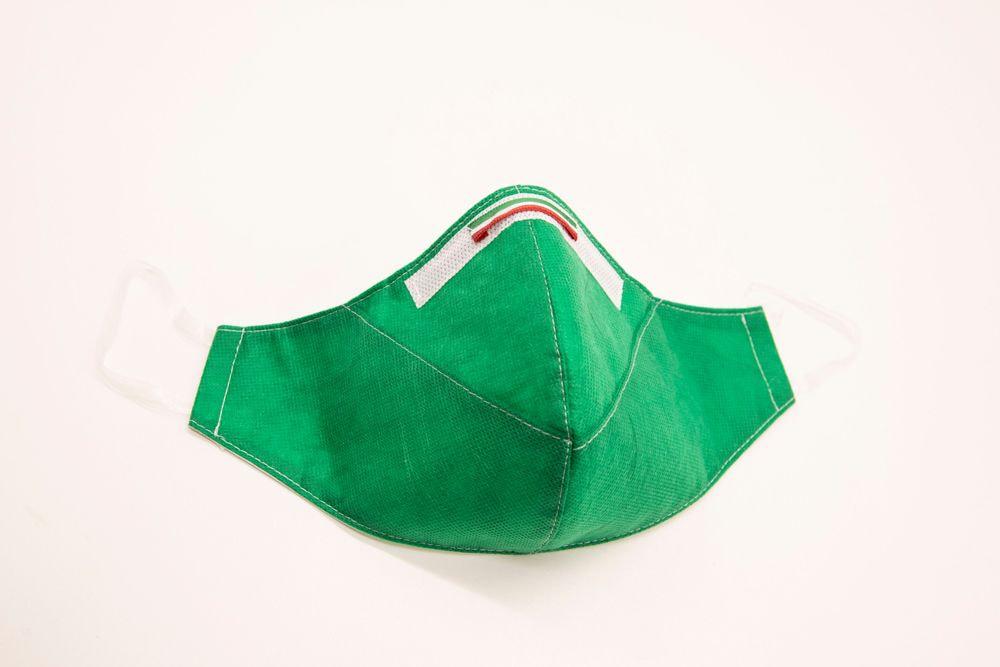 Mascherina Protettiva Fashion Lavabile Verde XXL