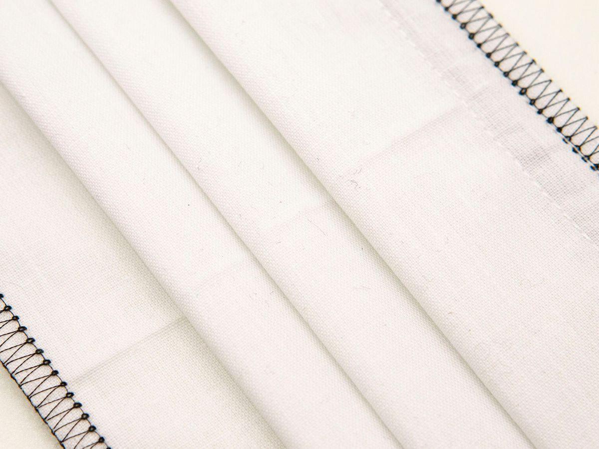 Mascherina Protettiva Lavabile bianca (cuciture nere)