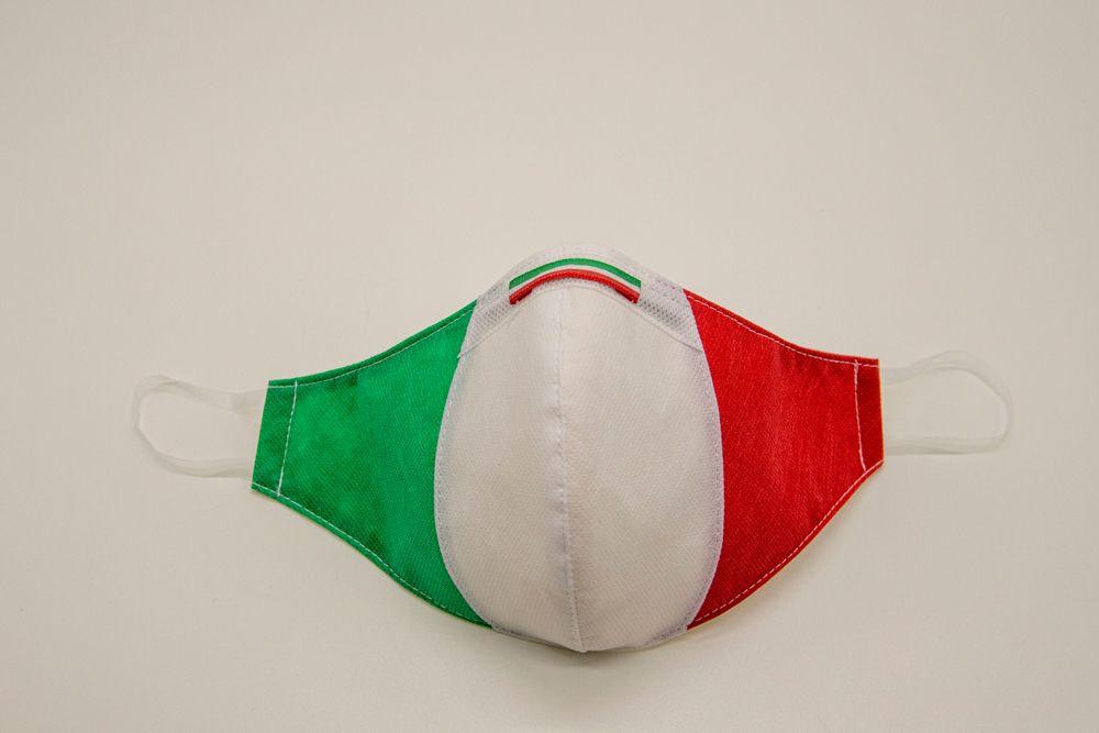 Mascherina Protettiva Fashion Lavabile Tricolore XS E
