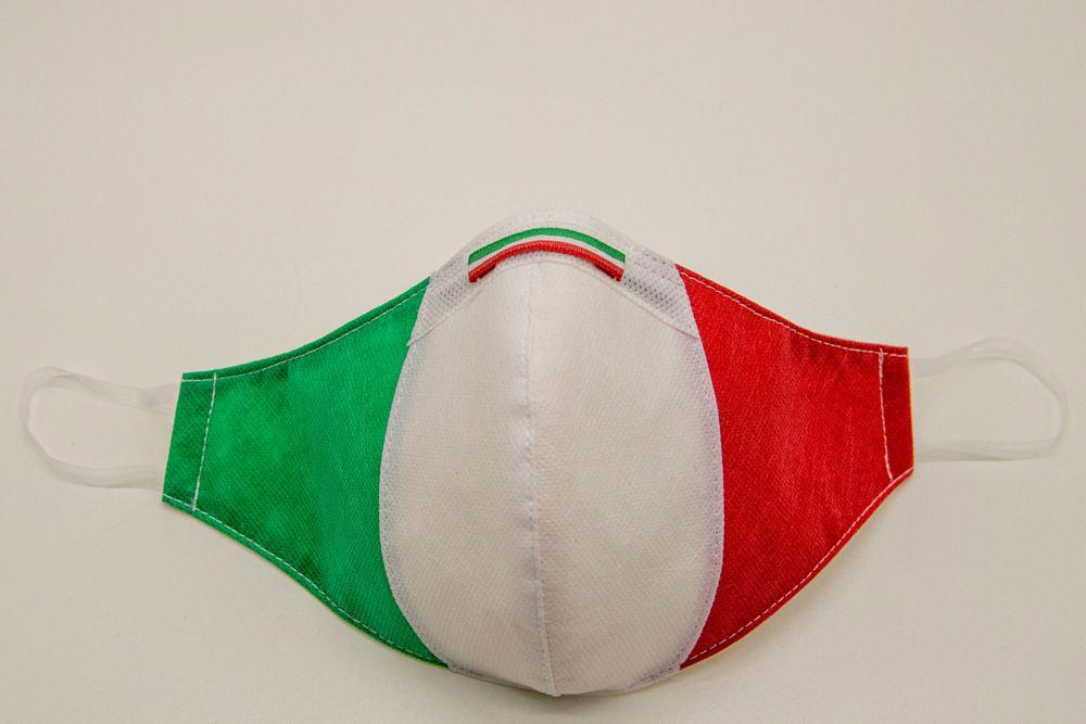 Mascherina Protettiva Fashion Lavabile Tricolore M