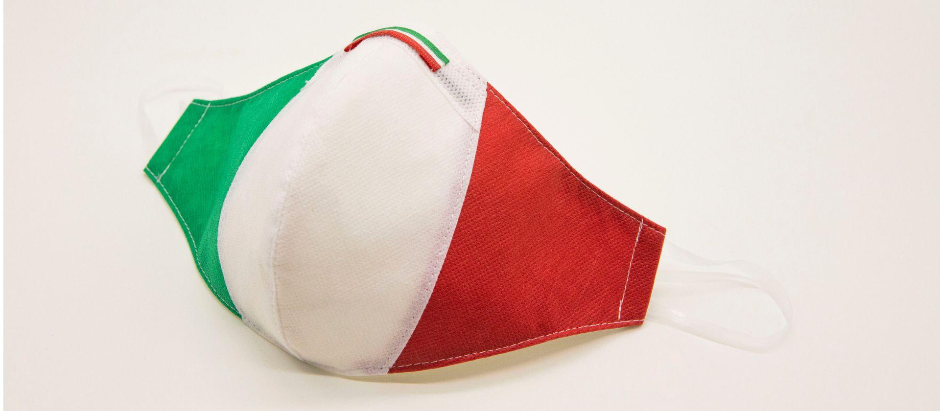 Mascherina Protettiva Fashion Lavabile Tricolore XXL
