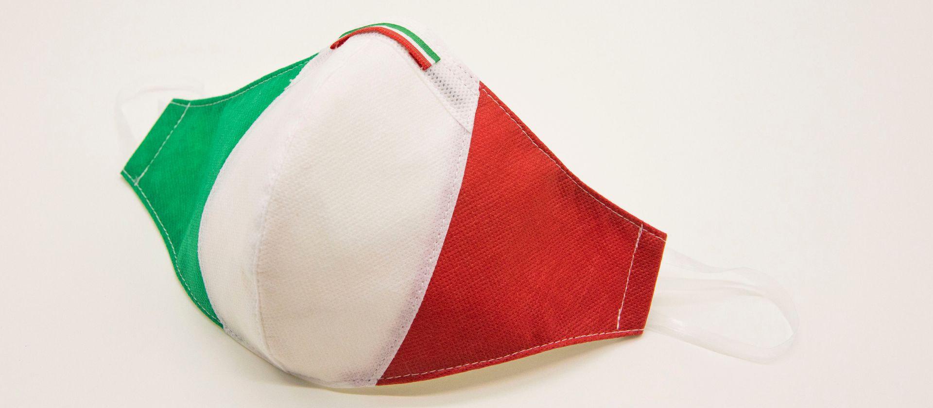 Mascherina Protettiva Fashion Lavabile Tricolore L