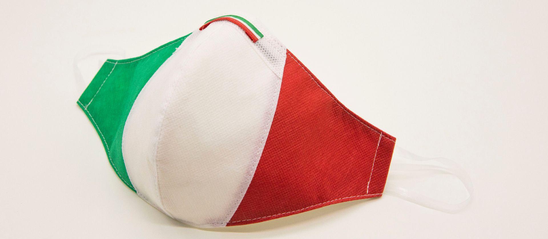 Mascherina Protettiva Fashion Lavabile Tricolore xs