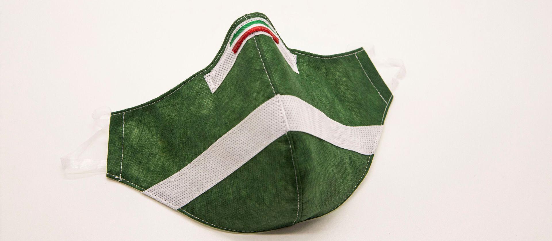Mascherina Protettiva Fashion Lavabile Verde Bosco XL