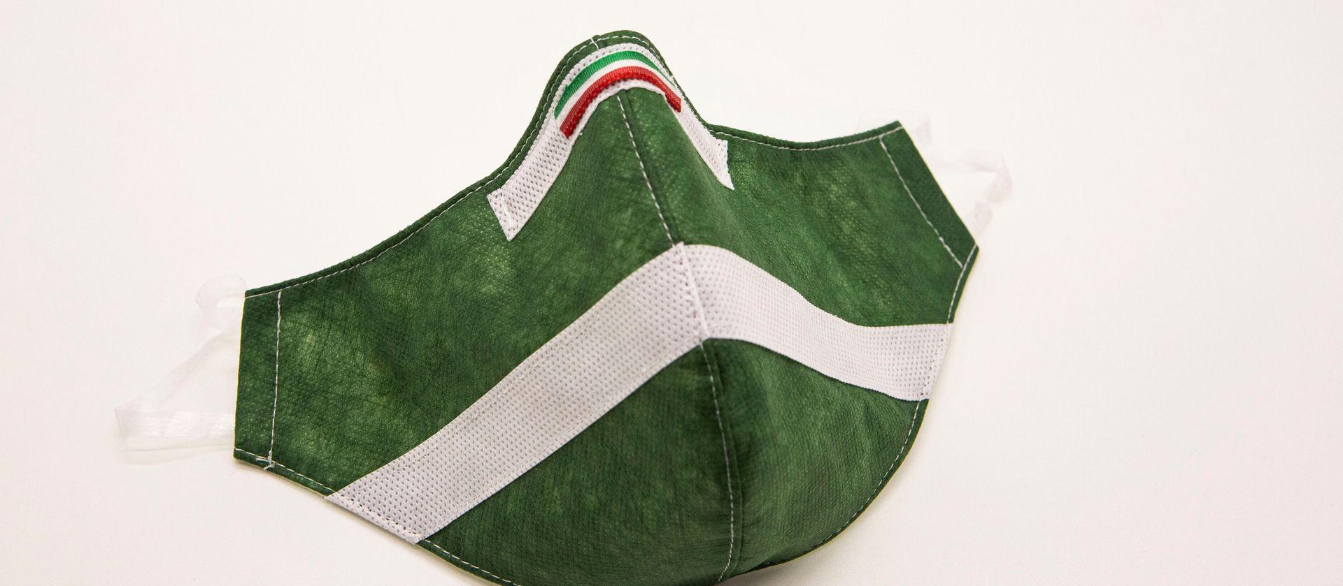 Mascherina Protettiva Fashion Lavabile Verde Bosco XXL
