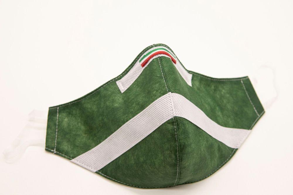 Mascherina Protettiva Fashion Lavabile Verde Bosco S E