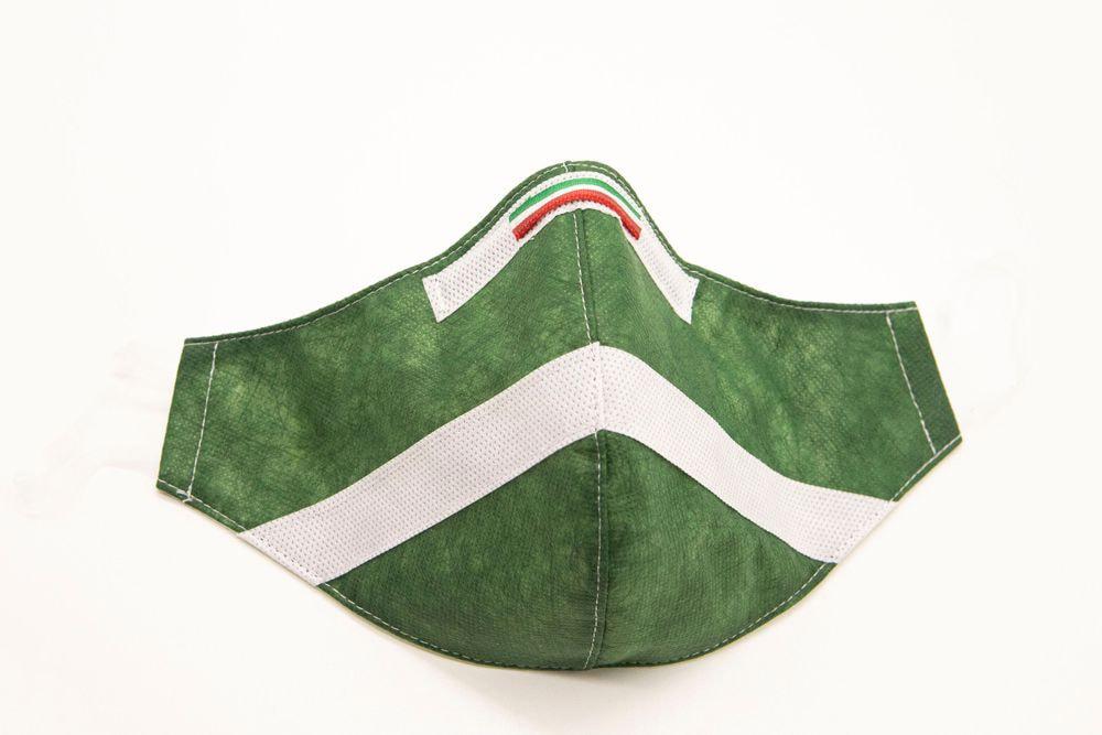 Mascherina Protettiva Fashion Lavabile Verde Bosco XXL E