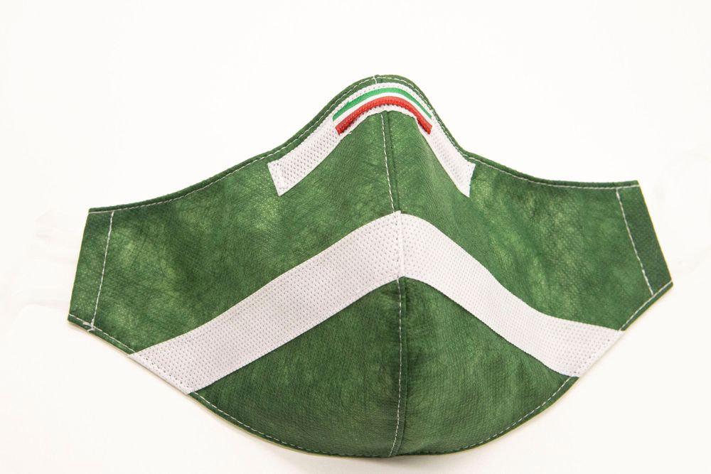 Mascherina Protettiva Fashion Lavabile Verde Bosco XS E
