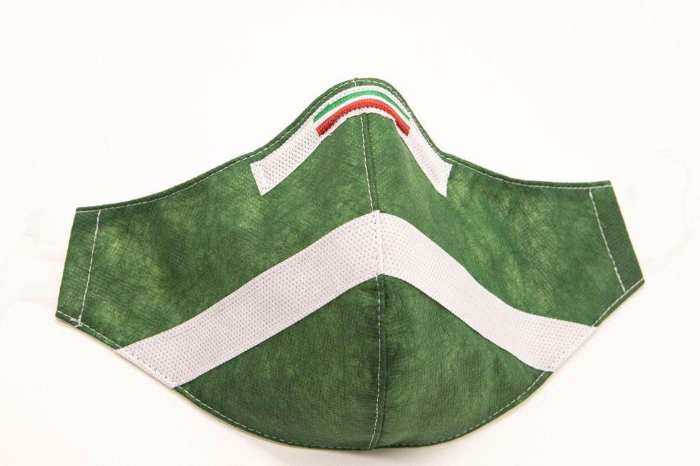 Mascherina Protettiva Fashion Lavabile Verde Bosco XL E