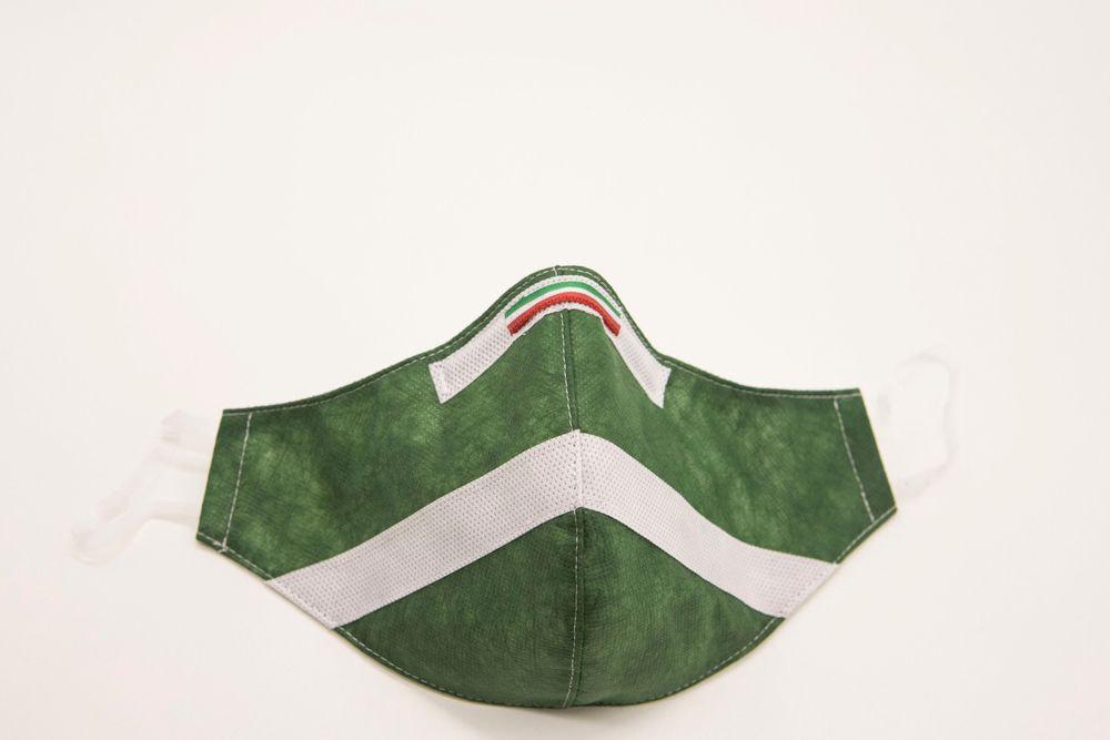 Mascherina Protettiva Fashion Lavabile Verde Bosco S