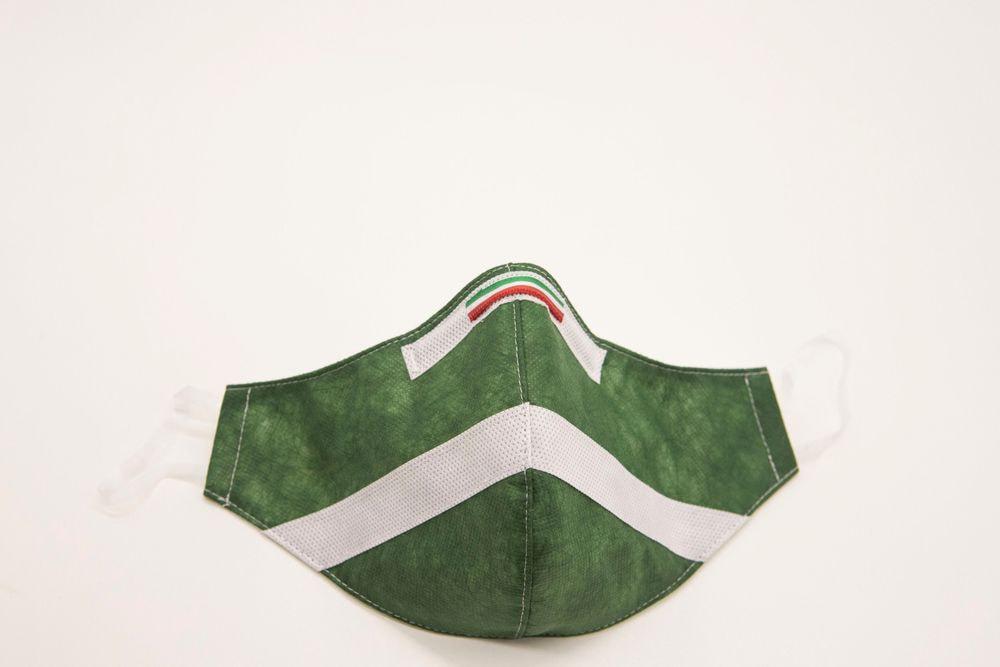 Mascherina Protettiva Fashion Lavabile Verde Bosco L E