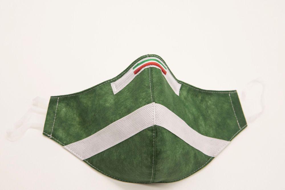 Mascherina Protettiva Fashion Lavabile Verde Bosco M E