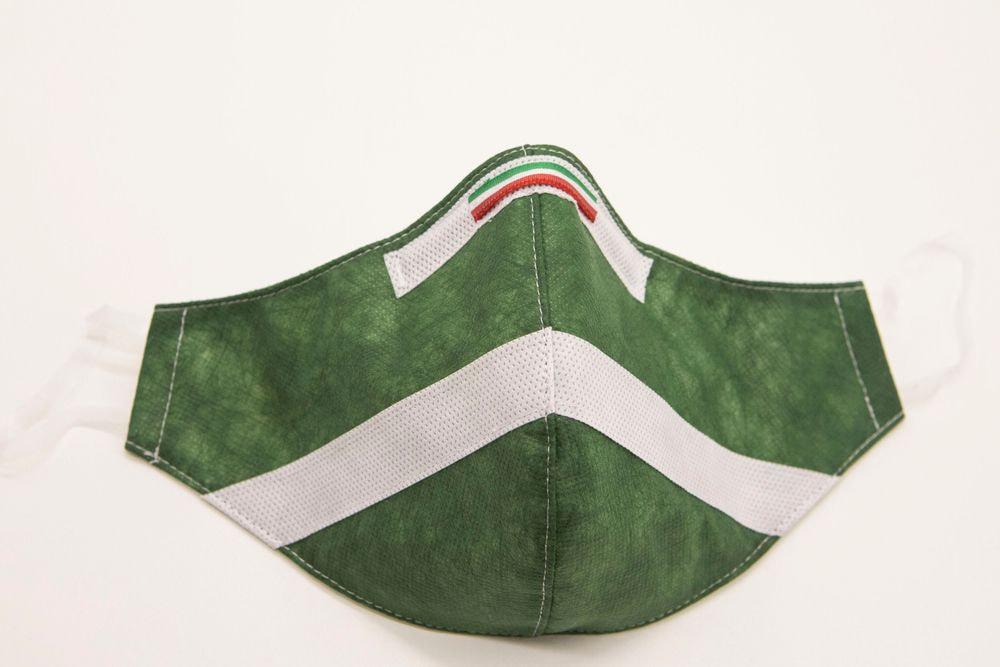Mascherina Protettiva Fashion Lavabile Verde Bosco L