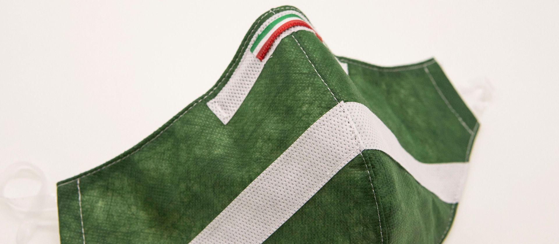 Mascherina Protettiva Fashion Lavabile Verde Bosco