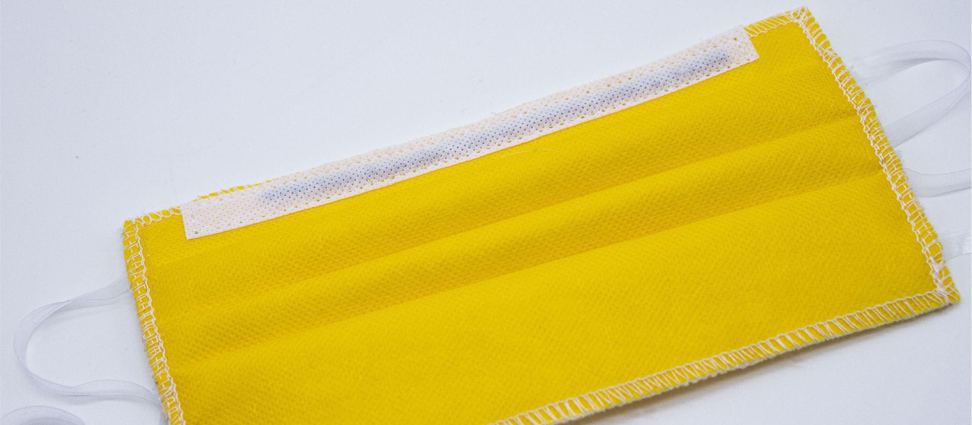 Mascherina Protettiva Lavabile gialla XXL