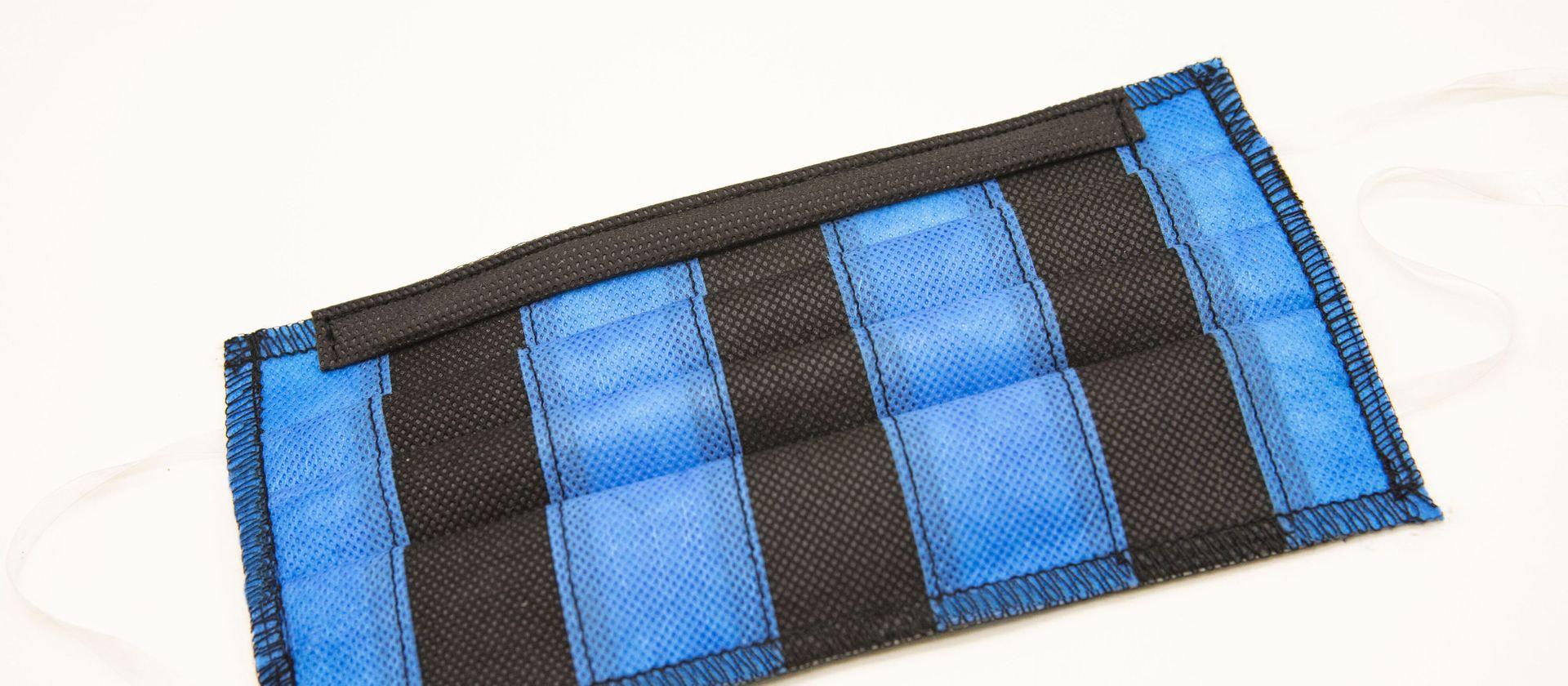 Mascherine Lavabili a righe Nero-Azzurre per Bambini 4-6 anni